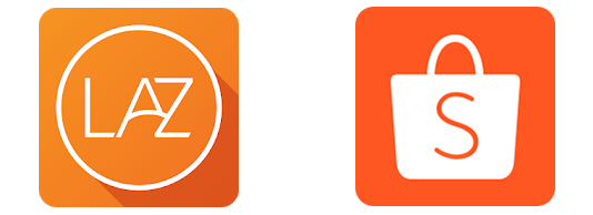 lazada and shopee app icon